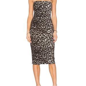 Norma Kamali Dress XXL strapless animal print